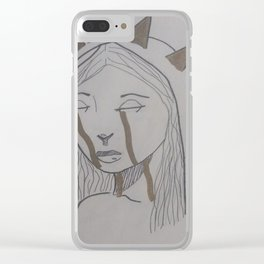 Liberty cries Clear iPhone Case