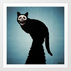 Skullcat Art Print
