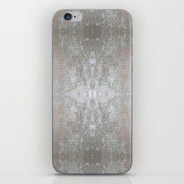 Silver Velvet Snake Pattern iPhone Skin