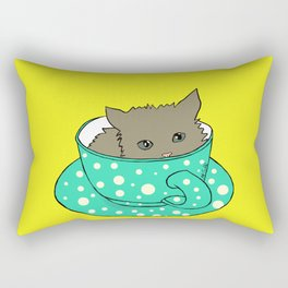 Kitten In A Teacup Rectangular Pillow