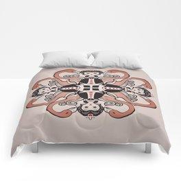 Queen of Hearts mandala Comforters