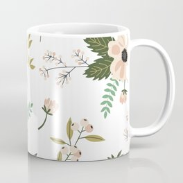 Winter floral - snowy blush petals Coffee Mug
