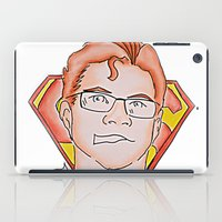 superman iPad Cases featuring Superman by ErikMcManusInc.