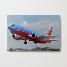 "Southwest Airlines 737-300 ""Spirit of Kitty Hawk"" Metal Print"