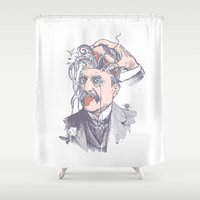wild things Shower Curtains featuring Wild things by victor calahan
