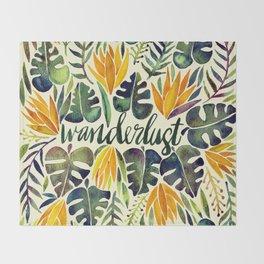 Tropical Wanderlust – Orange & Emerald Throw Blanket