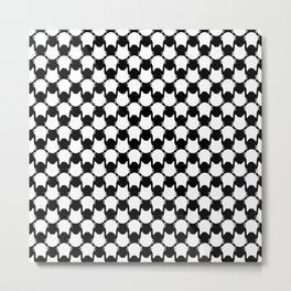 Graphic White Cat Print Metal Print