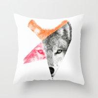 eric fan Throw Pillows featuring Wild by Eric Fan & Garima Dhawan by Garima Dhawan
