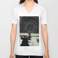 study V-neck T-shirts featuring study by Ashley Moye