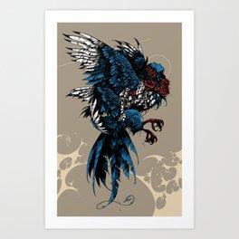 Sirin / Bird of Sorrow Art Print