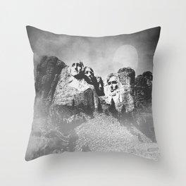 Rushmore at Night Throw Pillow
