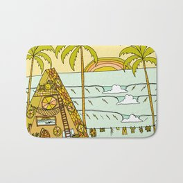 a frame dream home in paradise simple life by surfy birdy Bath Mat