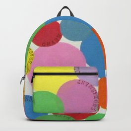Word Bubbles Blue Backpack