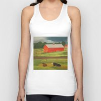 farm Tank Tops featuring Farm by ArtSchool