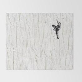 Woman Climbing a Wrinkle Throw Blanket