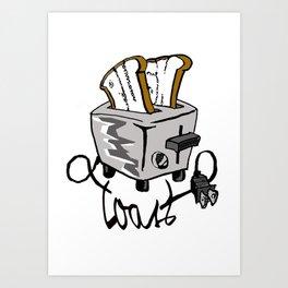 Push Toast Art Print