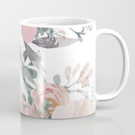 Watercolor, Blush Pink and Peach, Floral Prints Coffee Mug