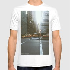 Streets of NYC Mens Fitted Tee MEDIUM White