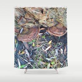 Mushrooms in Autumn Shower Curtain