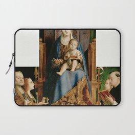 Antonello da Messina - Madonna with the Saints Nicholas of Bari, Lucia, Ursula and Dominic (1475) Laptop Sleeve