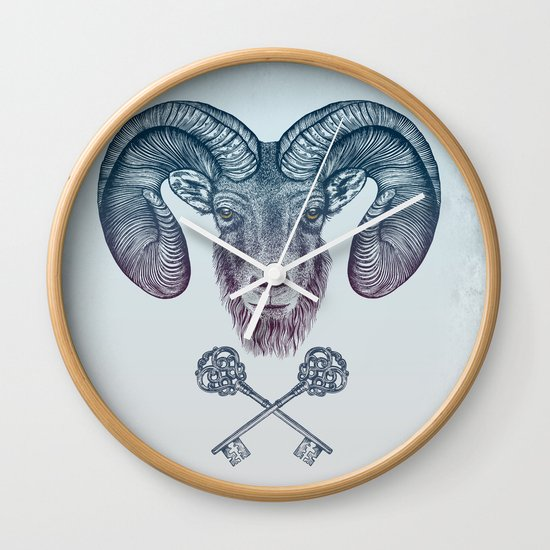 The Ram (Aries) Wall Clock