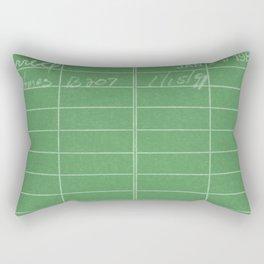 Library Card 797 Negative Green Rectangular Pillow