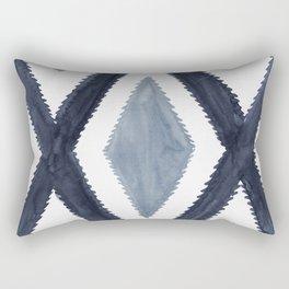 Del Rio Watercolor in Blue Rectangular Pillow