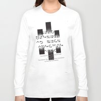 lost in translation Long Sleeve T-shirts featuring Lost in Translation :Black & White by Sierra Neale