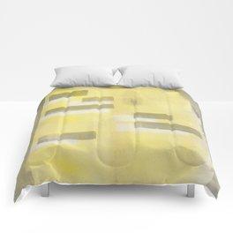 Stasis Gray & Gold 1 Comforters