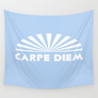 carpe diem Wall Tapestries featuring Carpe Diem by DuniStudioDesign