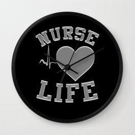 NURSE LIFE Heartbeat Wall Clock