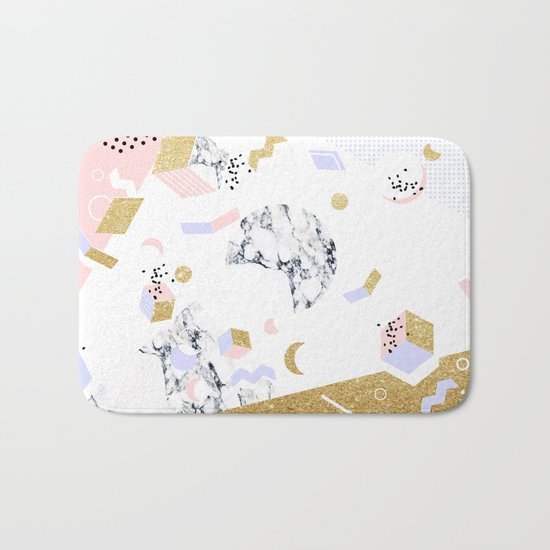 Marble Moon Abstraction #society6 #decor #buyart Bath Mat