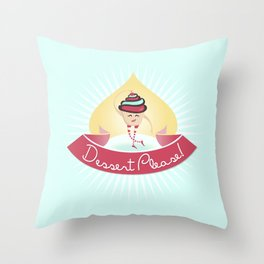 Dessert Please! (Blue) Throw Pillow