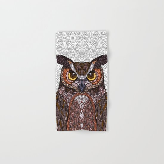 Great Horned Owl 2016 Hand & Bath Towel
