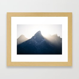grand teton mountains sunset Framed Art Print