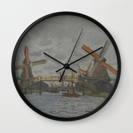 Windmills near Zaandam Wall Clock