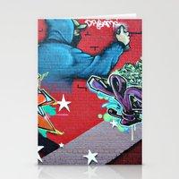 graffiti Stationery Cards featuring graffiti by mark ashkenazi