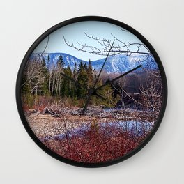 The Way to the Mountain Wall Clock