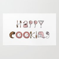 cooking Area & Throw Rugs featuring Happy Cooking by Mariya Olshevska