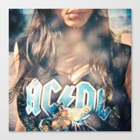 acdc Canvas Prints featuring ACDC by cesca