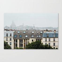 Rooftops of Paris / View of Sacré-Cœur Canvas Print