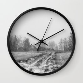 Winter's Past Wall Clock