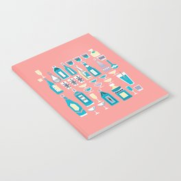 Cocktails And Drinks In Aquas and Pinks Notebook