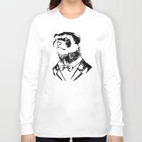 ferret Long Sleeve T-shirts featuring Fancy Ferret by JK Designs