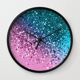 Tropical Beach Lady Glitter #8 #shiny #decor #art #society6 Wall Clock