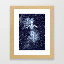 Starlight Swimmer Framed Art Print