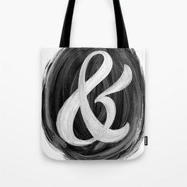 Thick Swirl Ampersand Black & White Tote Bag