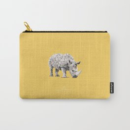 RHINOCEROS /// ANIMALS LOVE TRIANGLES Carry-All Pouch
