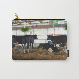 Black and white cow 2 Carry-All Pouch