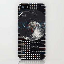 Full Moon. Insomnia. Lunacy. Werewolves iPhone Case